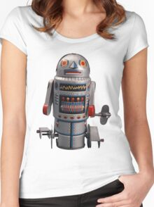 Retro Robot Vintage Women's Fitted Scoop T-Shirt