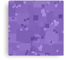 Paisley Purple Square Pixel Color Accent Canvas Print