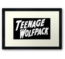 teenage wolfpack Framed Print