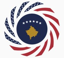 Kosovar American Multinational Patriot Flag Series by Carbon-Fibre Media