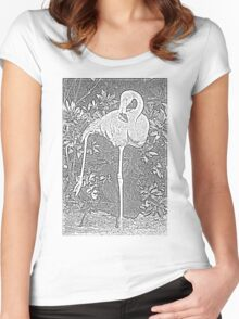 Yoga Flamingo Women's Fitted Scoop T-Shirt