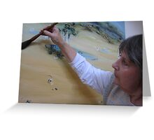 The way of the brush: Chan painter Melba Nielsen Greeting Card