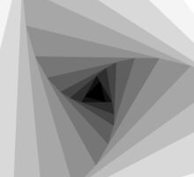 Monochrome Triangular Abstract Geometric Spiral  by Blkstrawberry