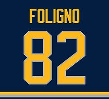 Buffalo Sabres Marcus Foligno Jersey Back Phone Case by Russ Jericho