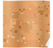 Peach Cobbler Square Pixel Color Accent Poster