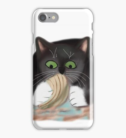 Unhappy Clam at High Tide Clasped by Kitten iPhone Case/Skin