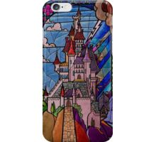 Beauty and the Beast - Stained Glass Castle iPhone Case/Skin