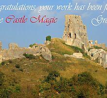 Corfe Castle Banner by RedHillDigital