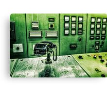 phone in control room Canvas Print