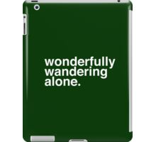 Wandering Alone. iPad Case/Skin