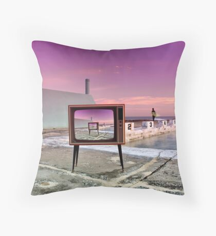 """So...What's On Telly?"" Throw Pillow"