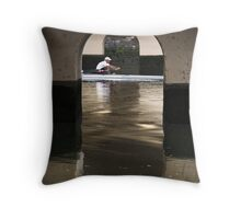 The Lone Rower Throw Pillow