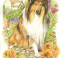 Collie dog by morgansartworld