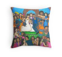Jumping the Broom Throw Pillow