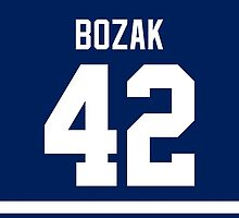 Toronto Maple Leafs Tyler Bozak Jersey Back Phone Case by Russ Jericho