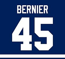 Toronto Maple Leafs Jonathan Bernier Jersey Back Phone Case by Russ Jericho