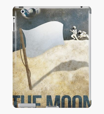 Retro Moon Space Poster iPad Case/Skin