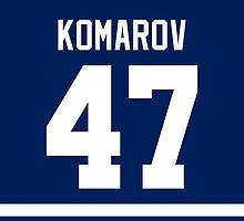 Toronto Maple Leafs Leo Komarov Jersey Back Phone Case by Russ Jericho