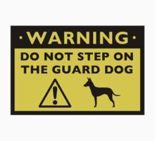 Humorous Manchester Terrier Guard Dog Warning by Jenn Inashvili