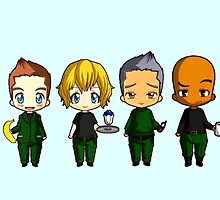 Chibi Stargate - Season 6 Team by colsamcarter