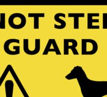 Humorous Manchester Terrier Warning (Natural Ears) Sticker