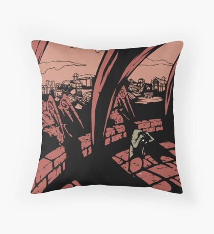 up in the bell tower Throw Pillow