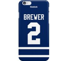 Toronto Maple Leafs Eric Brewer Jersey Back Phone Case iPhone Case/Skin
