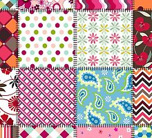 Mixed Variety of Patchwork Quilt Patterns and Colors by Vickie Emms