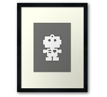Robot - steel & white Framed Print
