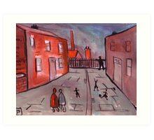 A Manchester Street Scene  Art Print