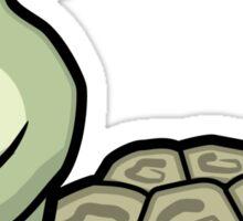 Tort-ally Naked Tortoise Sticker