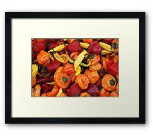 Market - Party Peppers Framed Print