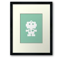 Robot - fresh spearmint & white Framed Print