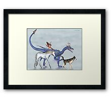 Mythical Companions Framed Print