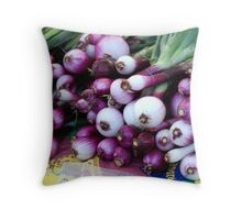 Market - Onions Throw Pillow