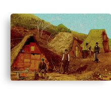 Shanty Town 1892 Canvas Print