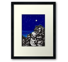 Night Gaze Framed Print