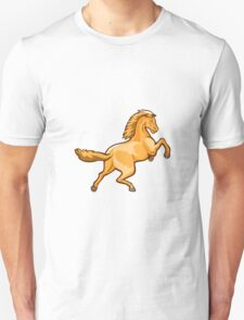 Colt Horse Prancing Rear Isolated Retro T-Shirt