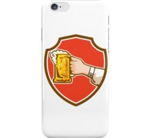 Hand Holding Mug Beer Crest Retro iPhone Case/Skin