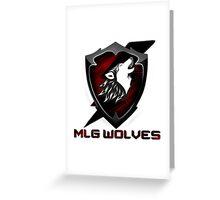 MLG Wolves Greeting Card
