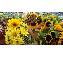 Market - Sunflower Bouquets Photographic Print