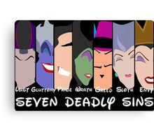 The Seven Disney Sins Canvas Print