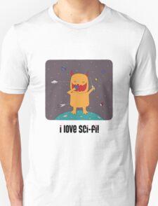 i love sci-fi Unisex T-Shirt