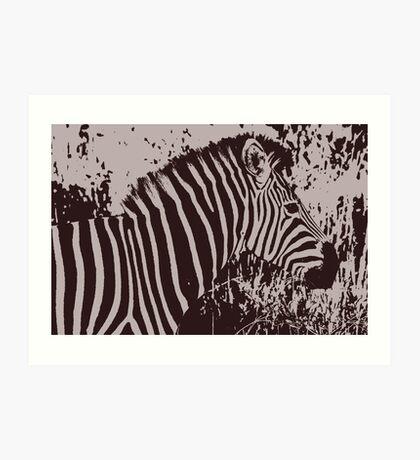 Safari - Graphic Zebra Art Print
