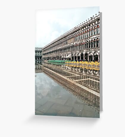 Reflections in S.Marco Square  Greeting Card
