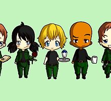 Chibi Stargate - Season 10 Team by colsamcarter