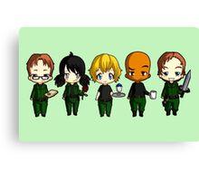 Chibi Stargate - Season 10 Team Canvas Print