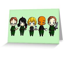 Chibi Stargate - Season 10 Team Greeting Card