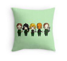 Chibi Stargate - Season 10 Team Throw Pillow