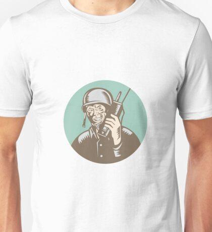 World War Two Soldier American Talk Radio Circle Unisex T-Shirt